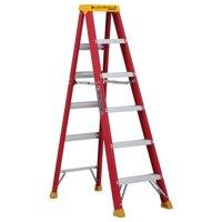 Louisville Ladder L-3016-06 6 ft. Fiberglass Step Ladder, Type IA, 300 lbs. Load Capacity