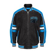 NFL Carolina PANTHERS Officially Licensed Suede Varsity Jacket by Glll ~Medium
