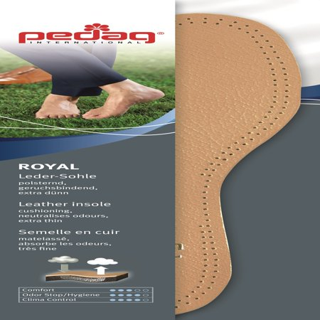 Pedag Royal Insole with Carbon Filter and Latex Foam Padding, Tan Leather, US (Best Pedag Insoles)