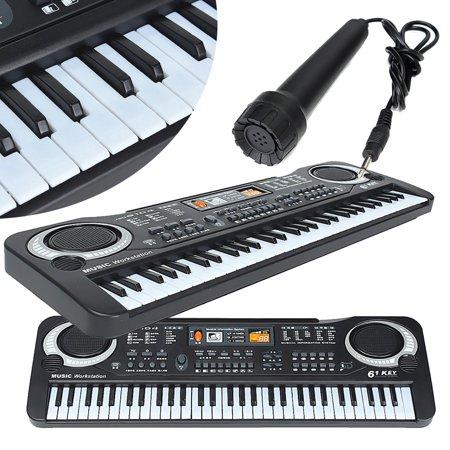 Digital Organ (54*17*5.5cm Kid's Children 61 Keys Small Music Electronic Digital Keyboard Key Board Electric Organ Piano electric piano Toys Gift )
