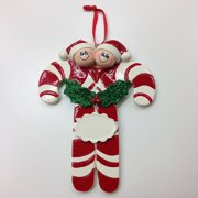 37909b40ac3c7 Candy Canes 2 Personalize It Yourself Christmas Tree Ornament