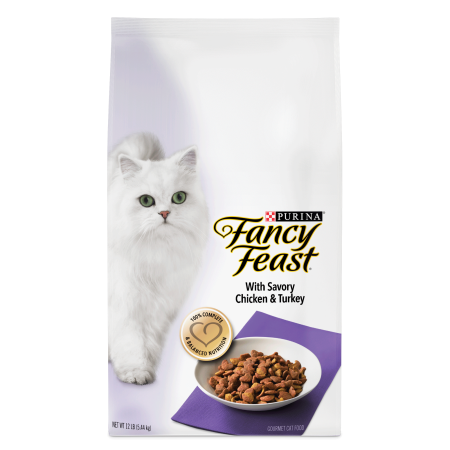 Fancy Feast with Savory Chicken & Turkey Dry Cat Food, 12 lb](Halloween Savory Food)