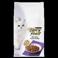 Fancy Feast with Savory Chicken & Turkey Dry Cat Food, 12 lb
