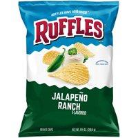 Ruffles Jalapeno Ranch Flavored Potato Chips, 8.5 Oz.