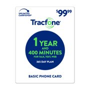 TracFone $99.99 Basic Phone 1 Year and 400 Minutes Plan (Email Delivery)