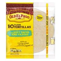 (3 Pack) Old El Paso Flour Tortilla Shells, 10 Count, 8.2 oz