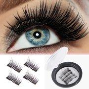 90ab9240402 Magnetic Eyelashes Kit, Dense Magnetic False Eyelashes, 3D Reusable Soft False  Eyelashes No Glue