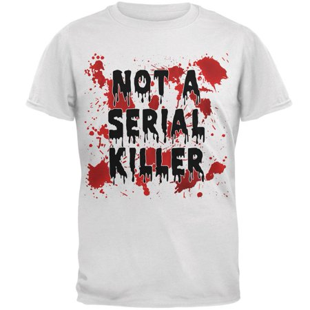 Halloween Not a Serial Killer Blood Splatter Mens T Shirt](Halloween Blood Splatter Clothes)