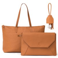 MOTILE™ Vegan Leather Laptop Tote + Tassel Cord with Lightning® Connection Bundle