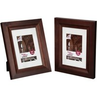 Better Homes and Gardens® Traditional Brown 5x7 Matted Solid Wood Picture Frames 2 ct Pack