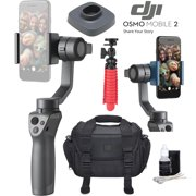 DJI Osmo Mobile 2 Handheld Smartphone Gimbal Stabilizer Videographer Bundle With Case, Flex