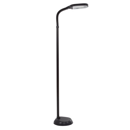 - Natural Full Spectrum Sunlight Reading Floor Lamp by Lavish Home (Black) - Adjustable Gooseneck