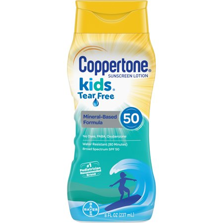 Coppertone Kids Sunscreen SPF 50 Tear Free Lotion, 8 fl oz