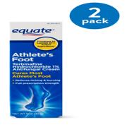 (2 Pack) Equate Athletes Foot Antifungal Cream, 1 Oz