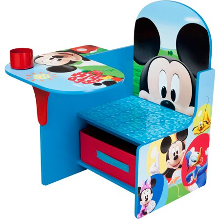 Disney Mickey Mouse Chair Desk with Storage Bin by Delta Children ()