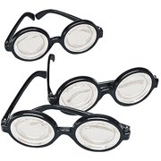 3739fcf648a0 Black Frame Nerd Glasses (12 Pack) Plastic. Costume Party Favors