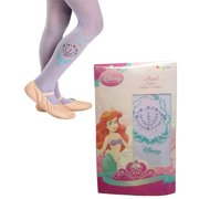 Childs Girls Blue The Little Mermaid Sparkle Ariel Tights Costume Accessory