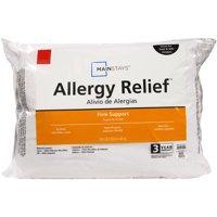 Mainstays Allergy Relief Hypoallergenic Down Alternative Pillow, 1 Each