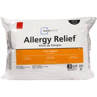 Mainstays Allergy Relief Hypoallergenic Down Alternative Pillow, Standard