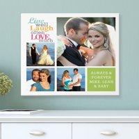 Personalized Live Laugh Love Photo Canvas, Color