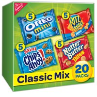 Nabisco Variety Pack Cookies & Crackers, Classic Mix, 1 Oz, 20 Count