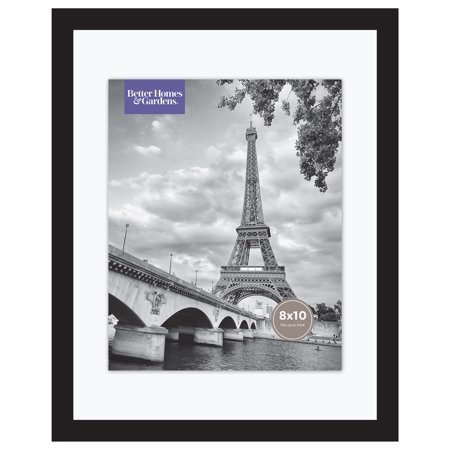 """Better Homes & Gardens 11"""" x 14"""" Wide Float Picture Frame, Black Finish"""
