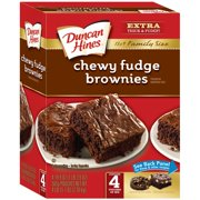 Duncan Hines Family Size Chewy Fudge Brownie Mix, 4 - 19.9 oz Box