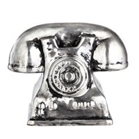 Tabletop Silver Telephone