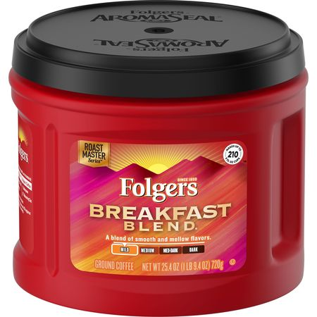 Folgers Breakfast Blend Ground Coffee, Mild Roast, - Millstone Breakfast Blend Coffee