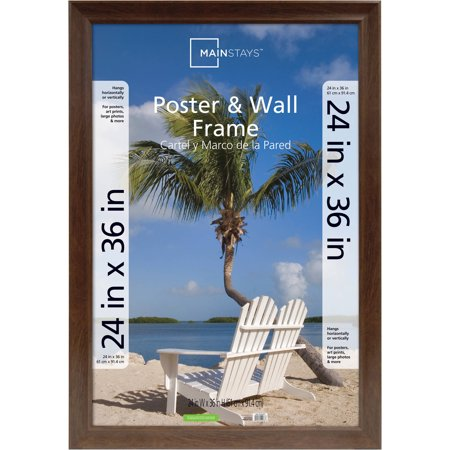 Mainstays 24x36 Wide Walnut Poster And Picture Frame Walmartcom