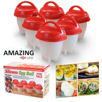 Hard Boil Egg Cooker 6 Pack - Hard Boiled Eggs Without the Shell Egg Cups