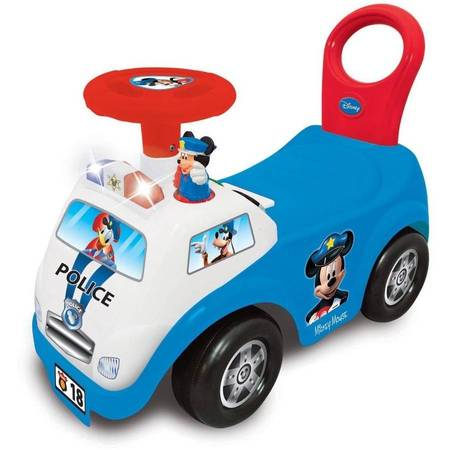 Kiddieland Disney Mickey Mouse My First Mickey Police Car Light and Sound Activity (Mickey Mouse Toys For 1 Year Old Boy)