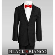 36fdd9f9af2 Black N Bianco Boys Suits w  Bow Tie