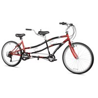 "Kent 26"" Northwoods Adult, 21-Speed Dual Drive Tandem Bike, Red/Black"