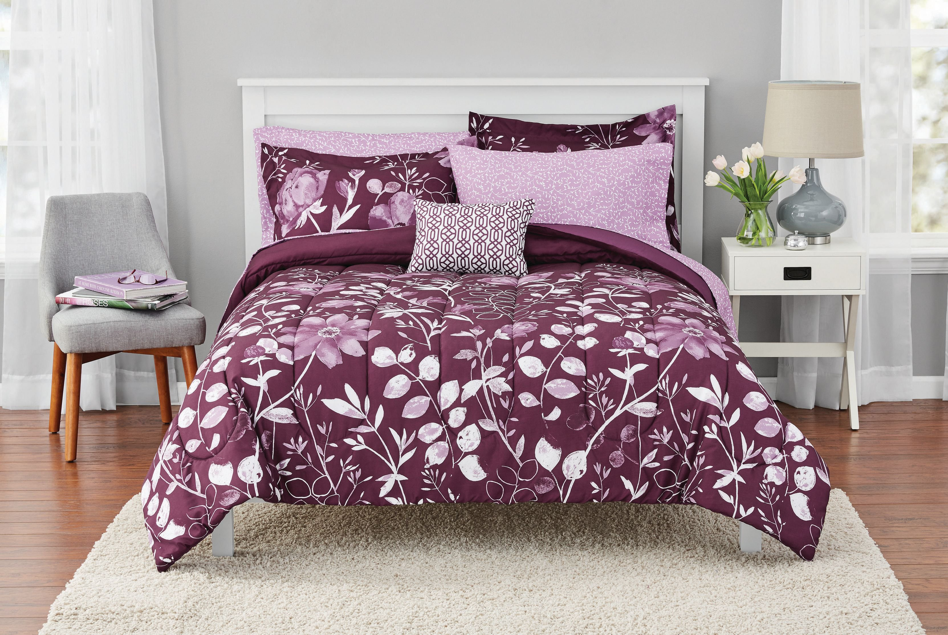 Kamala Bed in a Bag Coordinating Bedding Set by Mainstays