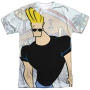 8c22b61eff4039 Johnny Bravo Cartoon Network Series Johnny Strutting Adult 2-Sided Print T- Shirt