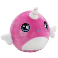 """Squeezamals, Narcissa Narwhal - 3.5"""" Super-Squishy Foam Stuffed Animal! Squishy, Squeezable, Cute, Soft, Adorable!"""