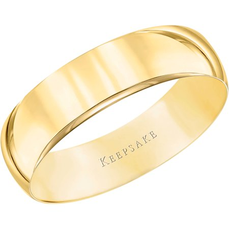5mm Modern Wedding Band (Women's 10kt Yellow Gold Wedding Band With High-Polish Finish,)