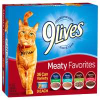 9Lives Meaty Favorites Variety Pack, 5.5-Ounce, 36-Pack