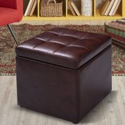 Peachy Leatherette Cube Ottomans Gmtry Best Dining Table And Chair Ideas Images Gmtryco