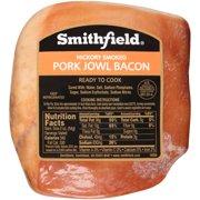 Smithfield Sliced Hickory Smoked Pork Jowl Bacon, 1 - 1.5 lbs