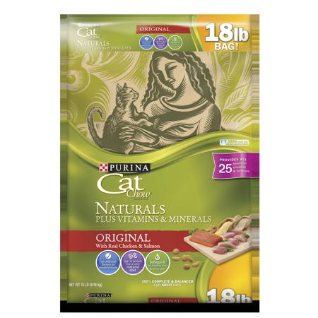 - Purina Cat Chow Natural Dry Cat Food, Naturals Original - 18 lb. Bag
