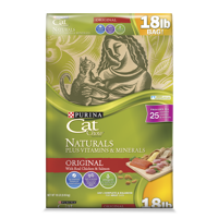 Cat Chow Naturals Original Plus Vitamins & Minerals Dry Cat Food, 18 lb