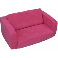 Toddler Flip Sofa, Hot Pink Micro
