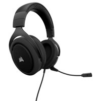 CORSAIR HS50 - Stereo Gaming Headset - Discord Certified Headphones - Works with PC, Mac, Xbox One, PS4, Nintendo Switch, iOS and Android - Carbon