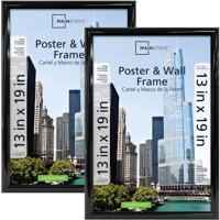 Mainstays 13x19 Trendsetter Poster and Picture Frame, Black, Set of 2