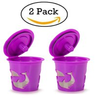 Reusable Keurig Coffee Filter, Refillable K Cup Pod - 2 Capsules