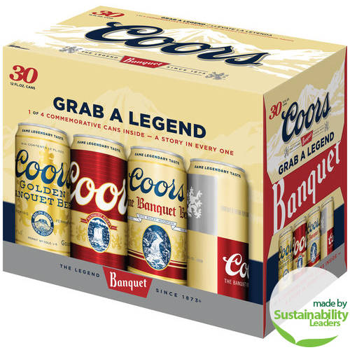 Coors Banquet Beer, 30 pack, 12 fl oz