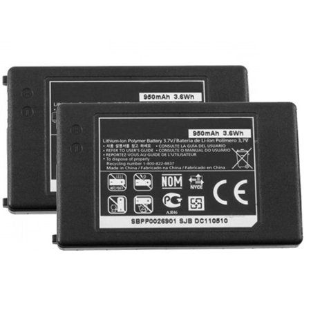 Replacement LG 800G Li-ion Mobile Phone Battery (2 Pack)