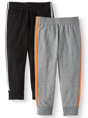 Knit Retro-Stripe Joggers, 2pc Multi-Pack (Toddler Boys)